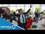 VIDEO: Así festejó Enrique Peña Nieto los goles de la selección mexicana