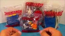 Chicken Run - 2000 Chicken Run Set Of 4 Burger King Kids Meal Movie Toys Video Review