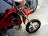 Pocket bike cross demarage
