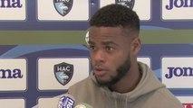 Avant Paris FC - HAC, interview de Dénys Bain