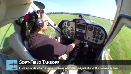 Sporty's Tip:  Grass Runway Takeoffs