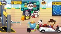 Machines dessins animés dessins animés sur en rang pro russe langue différentes courses jeep voitures
