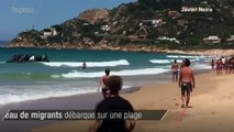 Un bateau de migrants débarque sur une plage espagnole