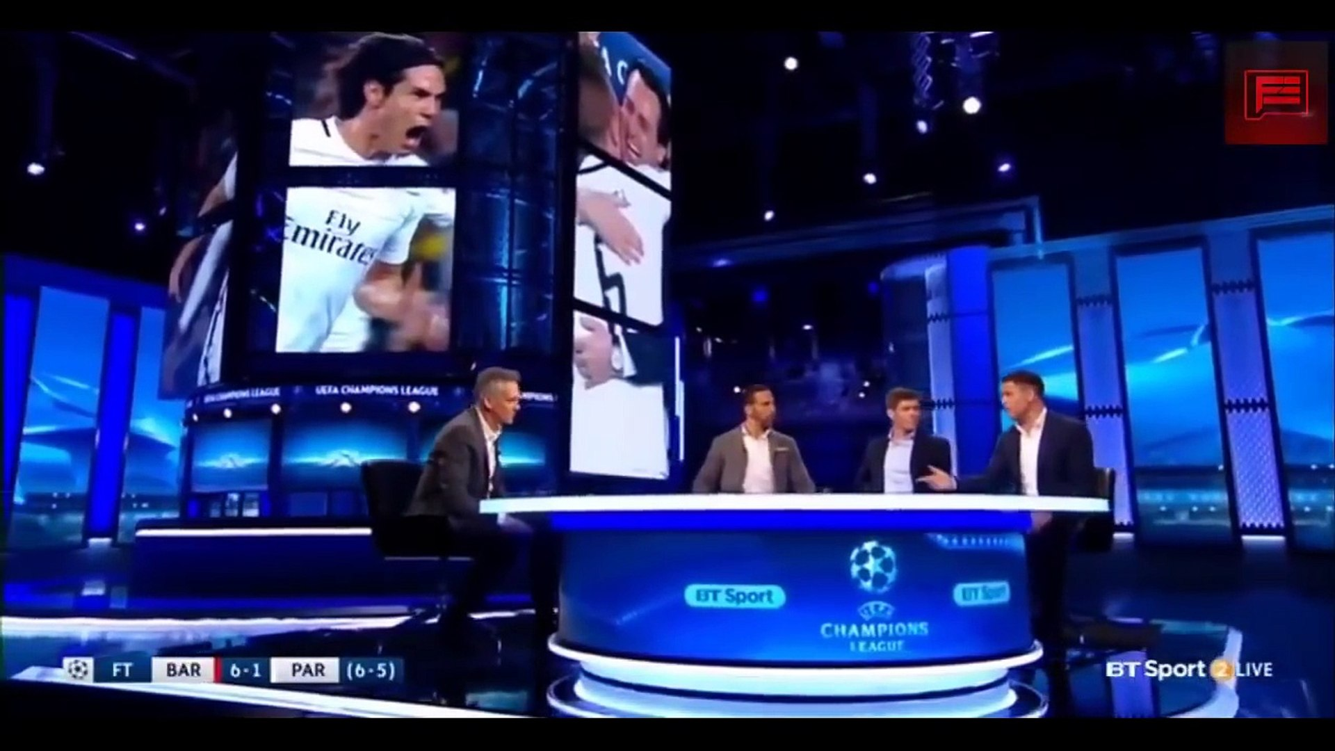 Barcelona vs PSG 6 1 Full Post Match Analysis By Rio Ferdinand, Steven Gerrard & Michael O