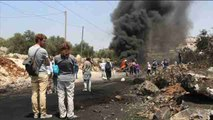 Palestinos protestan contra asentamiento de Qadomem