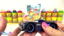 Jackson Storm Arabalar 3 Sürpriz Yumurta Oyun Hamuru - McQueen Jackson Storm Arabar 3 Oyuncakları