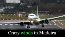 Failed Landings & Crazy Winds At Cristiano Ronaldo Airport In Madeira ! Aterragens Na Madeira