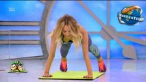 perfect OOPS during aerobic gym in tv