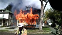 Newark Ohio Fire Department 128 Fairfield Avenue working house fire Incident Command with