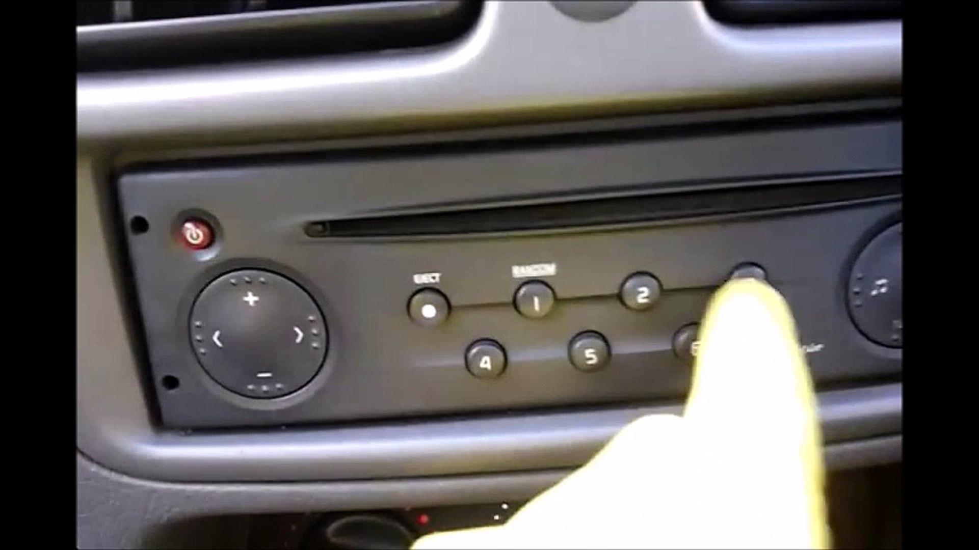 Enter Renault Kangoo Radio Code