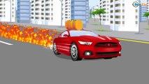 Мультики про машинки. Гоночные машины на дороге в городе Монстр Трак и Полиция Мультфильмы для детей
