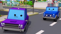 Learn Colors & Vehicles Fire Truck & Police car w Racing Cars! 3D Animation Cars & Truck Stories
