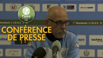 Conférence de presse Tours FC - Stade de Reims (0-1) : Gilbert  ZOONEKYND (TOURS) - David GUION (REIMS) - 2017/2018