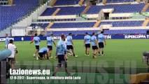 12-8-2017 - Supercoppa, la rifinitura della Lazio: Felipe Anderson fa differenziato