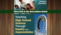 [PDF]  Teaching High School Science Through Inquiry and Argumentation Douglas J. Llewellyn For