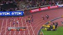 Mondiaux d'athlétisme : foudroyé par une blessure dans le relais 4x100 m, Usain Bolt ne termine pas sa dernière course