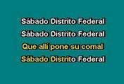 SABADO DISTRITO FEDERAL - CHAVA FLORES (KARAOKE)