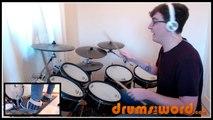 ★ Jump (Van Halen) ★ FREE Drum Lesson   How To Play Drum BEAT (Alex Van Halen)