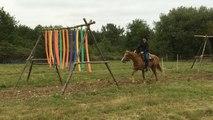 Un tour sur le parcours d'extreme cowboy race du ranch de Maëva Pécault
