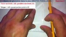 Maths 6ème - Les Bases De La Géométrie :  Droites Parallèles Exercice 2