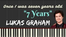Once I was seven years old -7 Years Lyrics by Lukas Graham - Synthesia Piano Tutorial