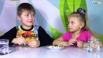 Челленж: попробуй не заплачь не скривись и не запей еду! Видео для детей Игры