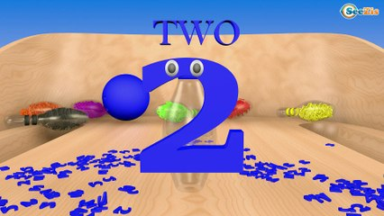 Learn Colors and Numbers with 3D Bowling Game - Learning Colours Collection for Kids Babies Children