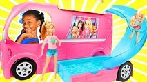 Barbie - Chelsea Pop Out Camper 2017! Baby doli and Camping bus baby doll car toys playtoys