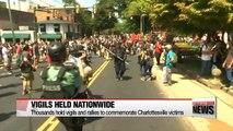 Rallies and vigils held to commemorate Charlottesville victims