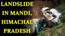 Mandi : Cloud Bust triggered landslide trapped two buses, 50 people dead | Oneindia News
