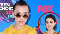 EXCLUSIVE: Millie Bobby Brown Fangirls Over 'PLL' Star Lucy Hale at Teen Choice Awards!