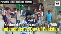 Kashmiris celebrate 70th Independence Day of Pakistan in Pulwama,Indian Occpuied Kashmir