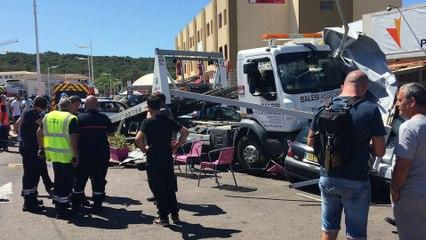 Vidéo. Porto-vecchio : le chauffeur d'une remorque perd le contrôle de son véhicule: six blessés