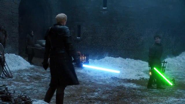 Arya vs Brienne Lightsaber Duel - Game of Thrones + Star Wars