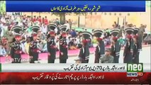 Flag Lowering Ceremony At Wagah Border - 14th August 2017