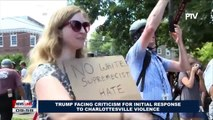 GLOBAL NEWS: Trump facing criticism for initial response to Charlottesville violence
