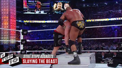 Brutal assaults with steel ring steps- WWE Top 10 - USA SPORTS SEO