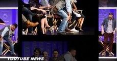 Sarah Paulson Shrieks As Cuba Gooding Jr Lifts Her Dress Up Onstage