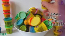 Les couleurs Apprendre puissance jouet baignoires Rangers playdoh playdoh dippin dots surprises