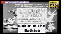 Looney Tunes - Sinkin' In The Bathtub (April 1930) - The Very First Looney Tunes And Warner Bros. Cartoon - 4K UHD