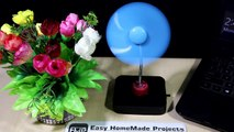 How to make Best Rechargeable Electric Fan / Easy Air Fan / Cool Table Fan With LED Light