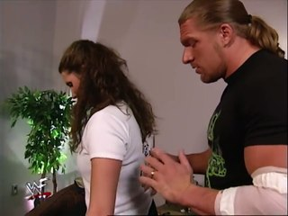 Triple H and Stephanie Mcmahon getting naughty backstage