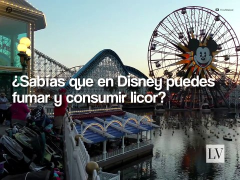 Sabías que en Disney puedes fumar y consumir licor
