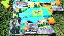 BATAILLE DE NERF SUPER SOAKER au bord de la Piscine Nerf Super Soaker War