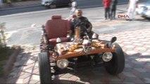 Hurda Parçalarından Otomobil Yaptı, 200 Kilometre Hıza Ulaştı