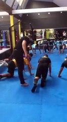 Séance boxe pour les seniors A