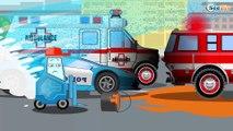 La Pelleteuse Jaune et Camion - Voitures de construction - Vidéo Éducative de Voitures Pour Enfants