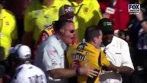 Kyle Busch and Joey Logano FIGHT Las Vegas NASCAR 2017