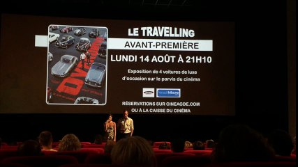 Soirée avant premiere film over drive le travelling agde 14 aout 2017