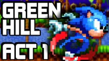 Sonic Mania on Nintendo Switch - Green Hill Zone: Act 1 [Sonic & Tails Mania Mode]